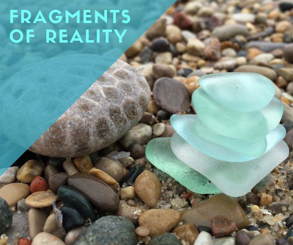 sea glass on a beach, transformation, power of stories